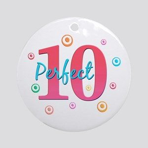 Perfect 10 Ornament (Round)