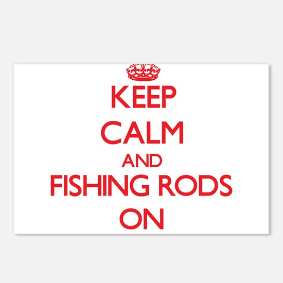 Keep Calm and Fishing Rod Postcards (Package of 8)