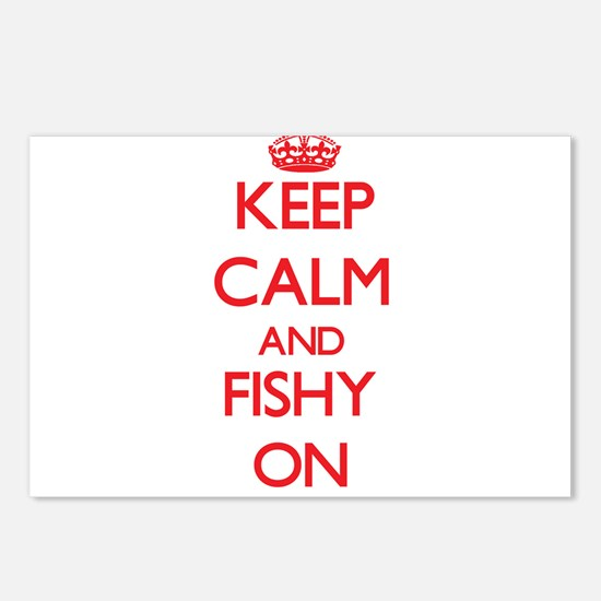 Keep Calm and Fishy ON Postcards (Package of 8)
