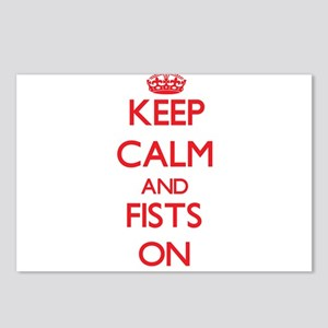 Keep Calm and Fists ON Postcards (Package of 8)
