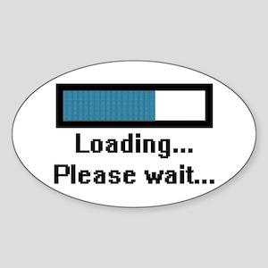 Loading... Please Wait... Oval Sticker