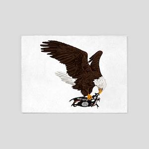 Eagle Crushes ISIS 5'x7'Area Rug