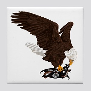 Eagle Crushes ISIS Tile Coaster