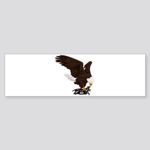 Eagle Crushes ISIS Sticker (Bumper)