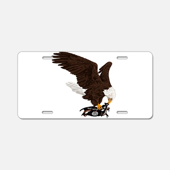 Eagle Crushes ISIS Aluminum License Plate