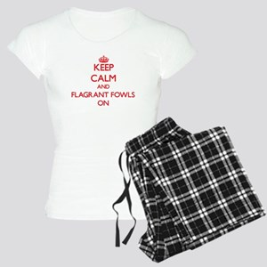 Keep Calm and Flagrant Fowl Women's Light Pajamas