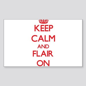 Keep Calm and Flair ON Sticker