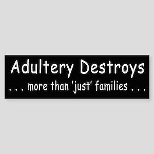 Adultery Destroys2 Bumper Sticker