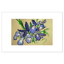 Iris Waterfalls Art Painting Posters
