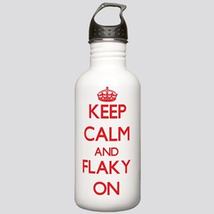 Keep Calm and Flaky ON Stainless Water Bottle 1.0L
