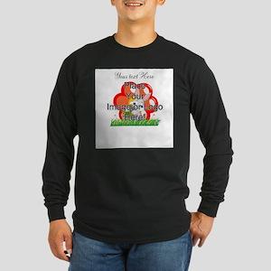 Single Line Overlay Long Sleeve T-Shirt