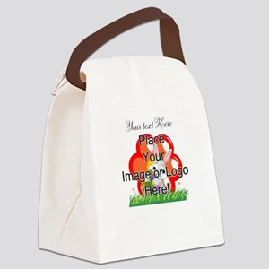 Single Line Overlay Canvas Lunch Bag