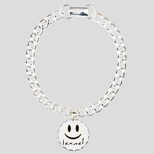 Burpee Smile Charm Bracelet, One Charm