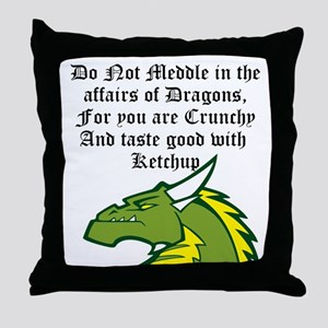 Dragon Affairs Throw Pillow