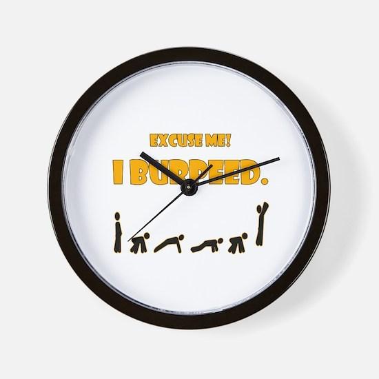 I Burpeed Wall Clock