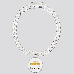I Burpeed Charm Bracelet, One Charm