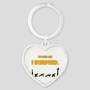I Burpeed Heart Keychain