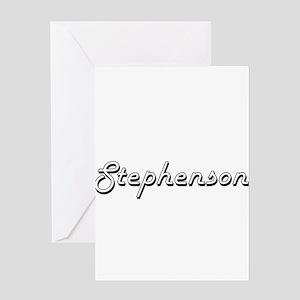 Stephenson surname classic design Greeting Cards
