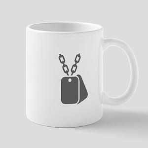 military 107-Mil gray Mugs
