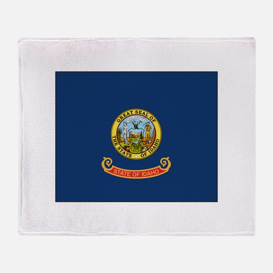Idaho Flag Throw Blanket