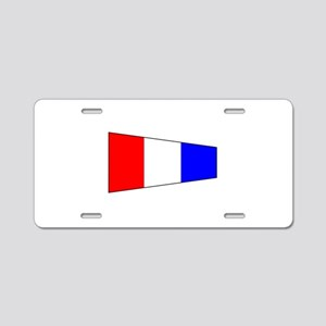 Pennant Flag Number 3 Aluminum License Plate