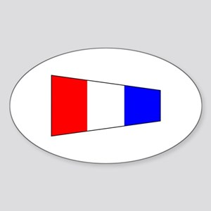 Pennant Flag Number 3 Sticker