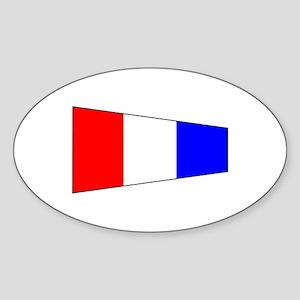 Pennant Flag Number 3 Sticker