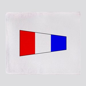 Pennant Flag Number 3 Throw Blanket