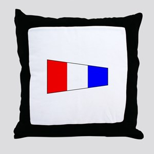 Pennant Flag Number 3 Throw Pillow