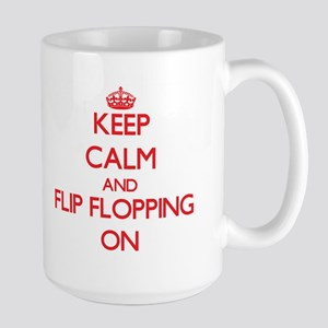 Keep Calm and Flip Flopping ON Mugs