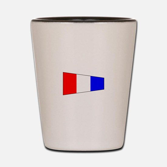 Pennant Flag Number 3 Shot Glass