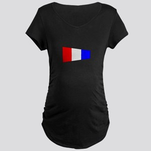 Pennant Flag Number 3 Maternity T-Shirt