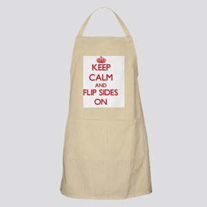Keep Calm and Flip Sides ON Apron