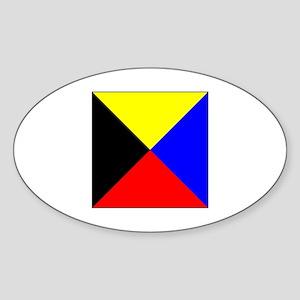 ICS Flag Letter Z Sticker