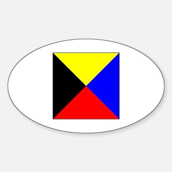 ICS Flag Letter Z Decal