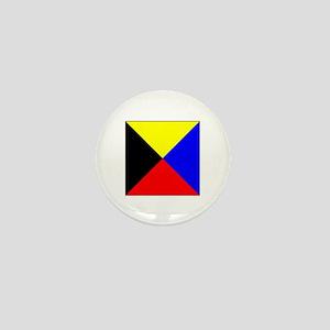 ICS Flag Letter Z Mini Button