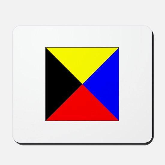 ICS Flag Letter Z Mousepad