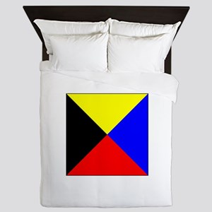 ICS Flag Letter Z Queen Duvet