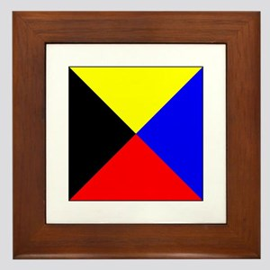 ICS Flag Letter Z Framed Tile