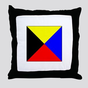ICS Flag Letter Z Throw Pillow