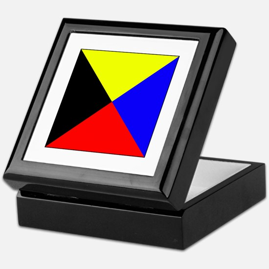 ICS Flag Letter Z Keepsake Box
