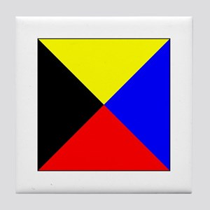ICS Flag Letter Z Tile Coaster