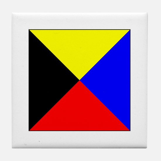 ICS Flag Letter Z Tile Coaster