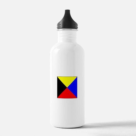 ICS Flag Letter Z Water Bottle