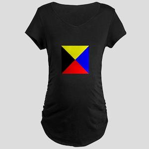 ICS Flag Letter Z Maternity T-Shirt
