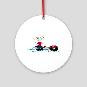 Go Tubing Ornament (Round)