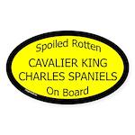 Spoiled Cavalier King Charles Spaniels Sticker
