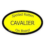 Spoiled Cavalier On Board Oval Sticker