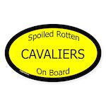 Spoiled Cavaliers On Board Oval Sticker