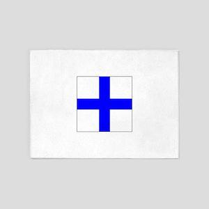 ICS Flag Letter X 5'x7'Area Rug